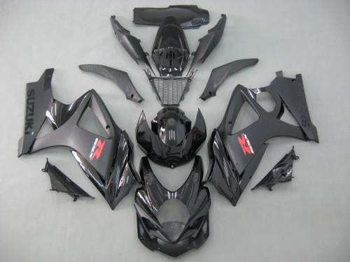 Fairings Suzuki GSXR 1000 All Black GSXR Racing  (2007-2008)