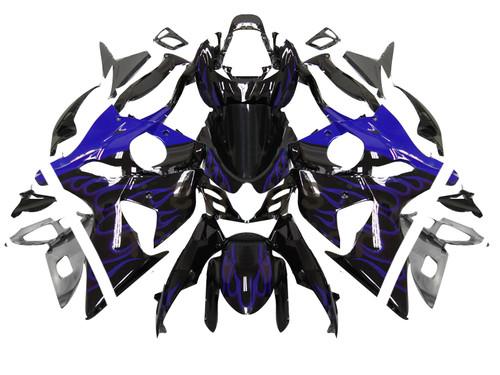 Fairings Suzuki GSXR 1000 Black & Blue Flame Racing  (2009-2012)