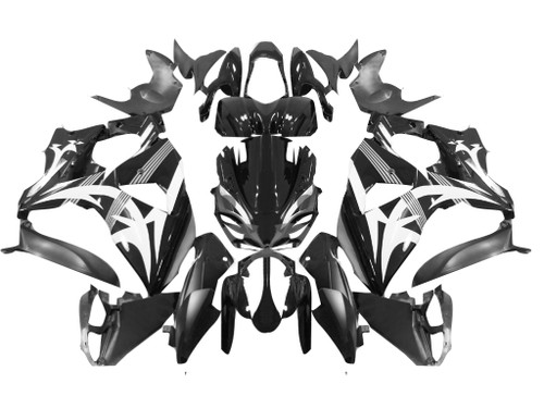 Fairings Suzuki GSXR 1000 Black & White Tribal Racing  (2009-2012)