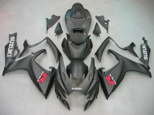Fairings Suzuki GSXR 600 750 Black Matte GSXR Racing  (2006-2007)