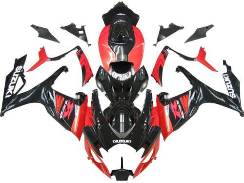 Fairings Suzuki GSXR 600 750 Black & Red GSXR Racing  (2006-2007)