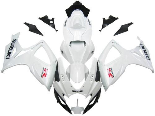 Fairings Suzuki GSXR 600 750 White GSXR Racing  (2006-2007)