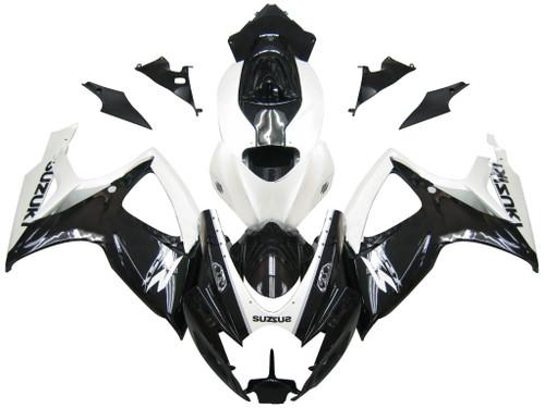 Fairings Suzuki GSXR 600 750 Black & White GSXR Racing  (2006-2007)