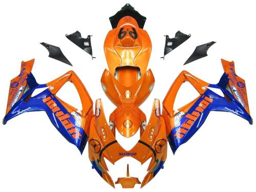 Fairings Suzuki GSXR 600 750 Orange & Blue Jordan Racing  (2006-2007)