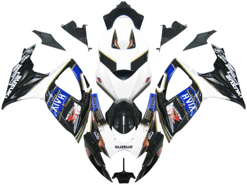 Fairings Suzuki GSXR 600 750 Black Blur Viru Beer Racing  (2006-2007)