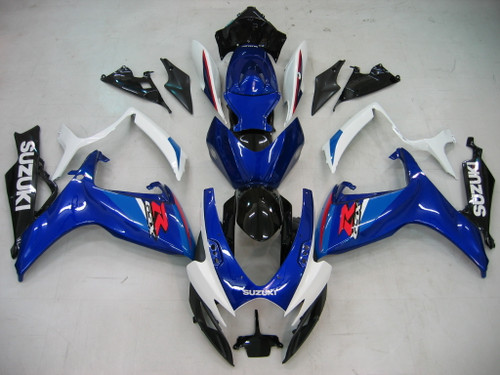 Fairings Suzuki GSXR 600 750 Blue & White GSXR Racing  (2006-2007)