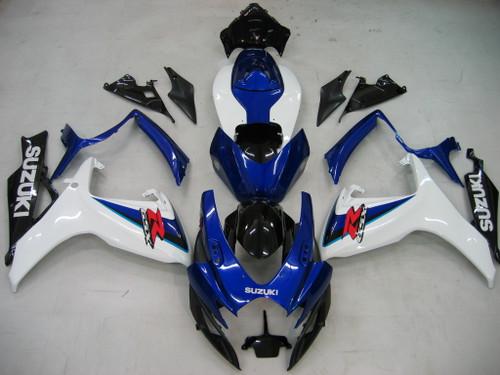 Fairings Suzuki GSXR 600 750 White Blue Black GSXR Racing  (2006-2007)
