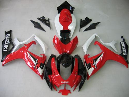 Fairings Suzuki GSXR 600 750 Red White Black GSXR Racing  (2006-2007)