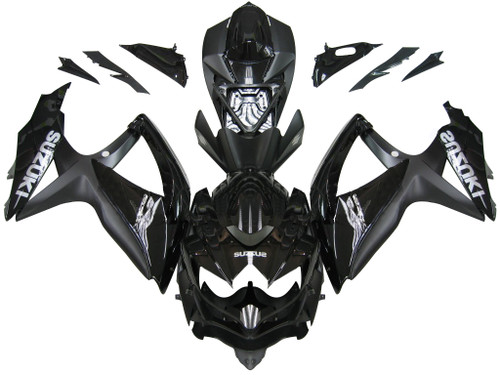 Fairings Suzuki GSXR 600 750 All Black Suzuki Racing  (2008-2009-2010)