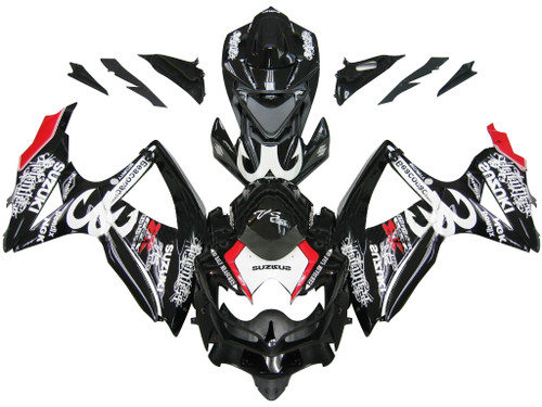 Fairings Suzuki GSXR 600 750 Black Relentless Racing  (2008-2009-2010)