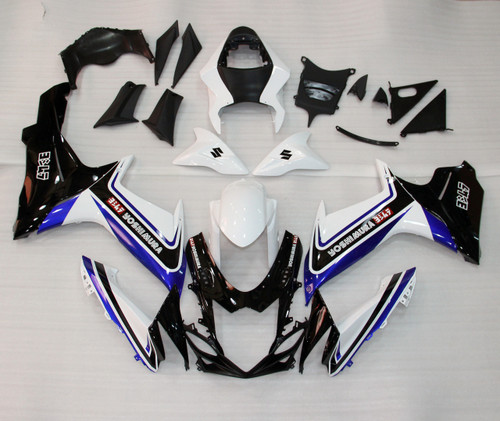 Fairings Plastics Suzuki GSXR600 GSXR750 K11 Black Blue White (2011-2014)