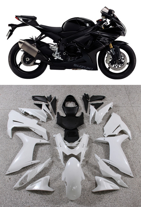 Fairings Plastics Suzuki GSXR600 GSXR750 K11 Black Checkered GSXR (2011-2014)