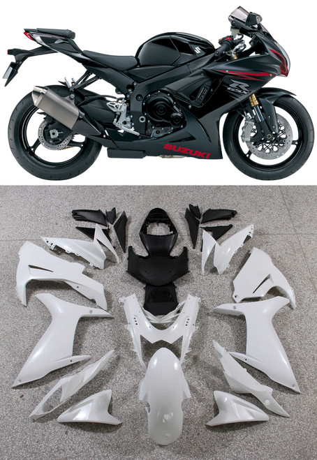Fairings Plastics Suzuki GSXR600 GSXR750 K11 Black Red GSXR (2011-2014)