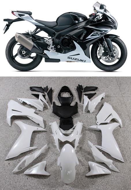 Fairings Plastics Suzuki GSXR600 GSXR750 K11 Black White GSXR (2011-2014)
