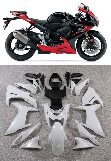 Fairings Plastics Suzuki GSXR600 GSXR750 K11 Red Black GSXR (2011-2014)