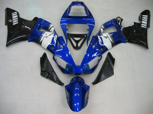 Fairings Yamaha YZF-R1 Blue Black R1  Racing (2000-2001)
