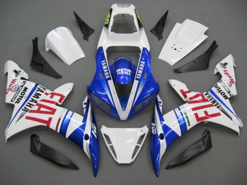 Fairings Yamaha YZF-R1 White Blue No.46 FIAT Racing (2002-2003)