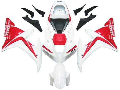 Fairings Yamaha YZF-R1 White Red  R1 Racing (2002-2003)