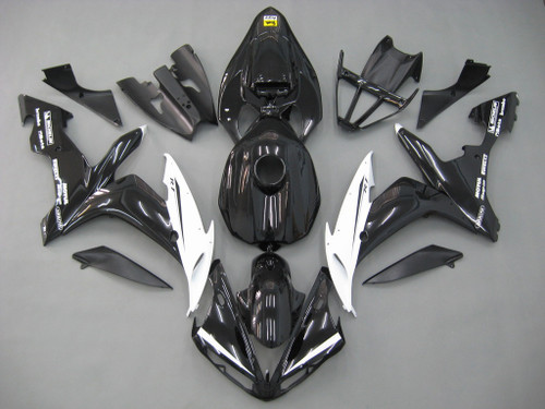 Fairings Yamaha YZF-R1 Black White R1 Racing (2004-2006)