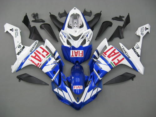 Fairings Yamaha YZF-R1 Blue White FIAT Racing (2007-2008)