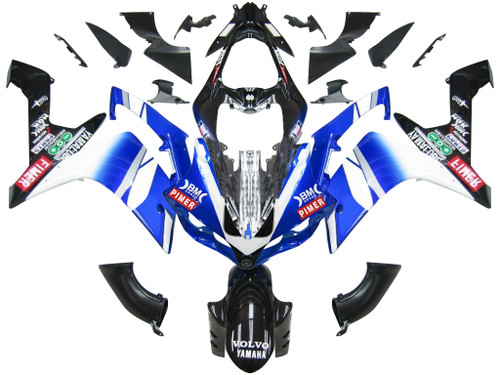 Fairings Yamaha YZF-R1 Blue Black BMC R1 Racing (2007-2008)