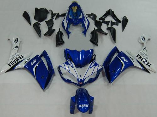 Fairings Yamaha YZF-R1 Blue White  R1 Racing (2007-2008)