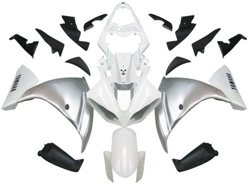 Fairings Yamaha YZF-R1 White Silver R1 Racing (2009-2012)