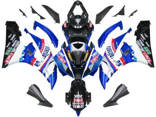Fairings Yamaha YZF-R6 Blue Black Sterilgard R6 Racing (2006-2007)