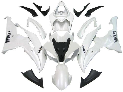 2008-2016 Fairings Yamaha YZF-R6 White R6 Racing