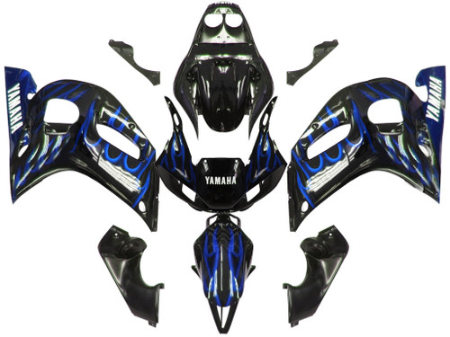 Fairings Yamaha YZF-R6 Black & Blue Flame R6 Racing (1998-2002)