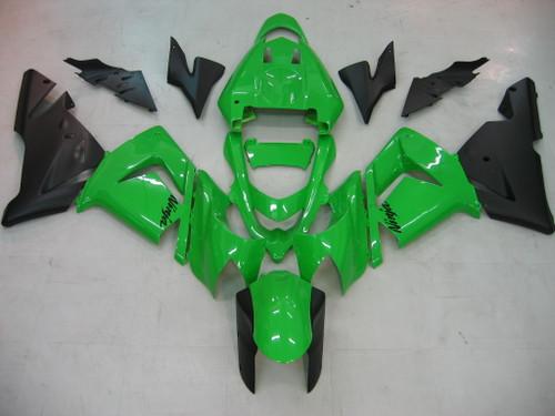 Fairings Kawasaki ZX 10R Green Black Ninja Racing (2004-2005)