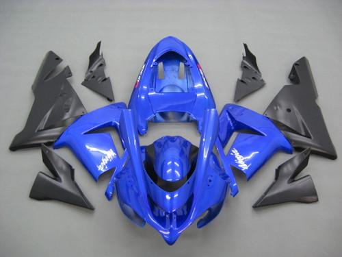 Fairings Kawasaki ZX 10R Blue Black  Ninja Racing (2004-2005)