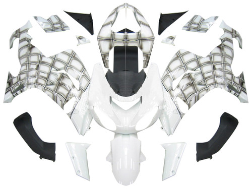 Fairings Kawasaki ZX 10R White Spiderman Racing (2006-2007)