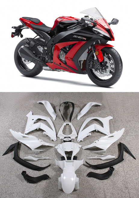 Fairings Plastics Kawasaki ZX10R Ninja Red Racing (2011-2014)