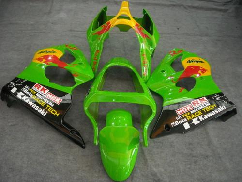 Fairings Plastics Kawasaki ZX6R 636 Green Racing (2000-2002)