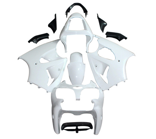 Fairings Plastics Kawasaki ZX6R 636 Play Station Racing Primal only Unpainted (2000-2002)