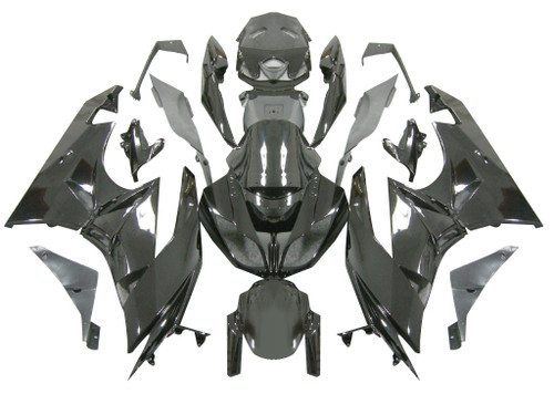 2009-2012 Fairings Kawasaki ZX6R ZX636 All Black Ninja Racing