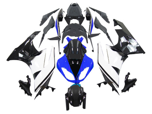 2009-2012 Fairings Kawasaki ZX6R ZX636 Blue White Black Ninja Racing