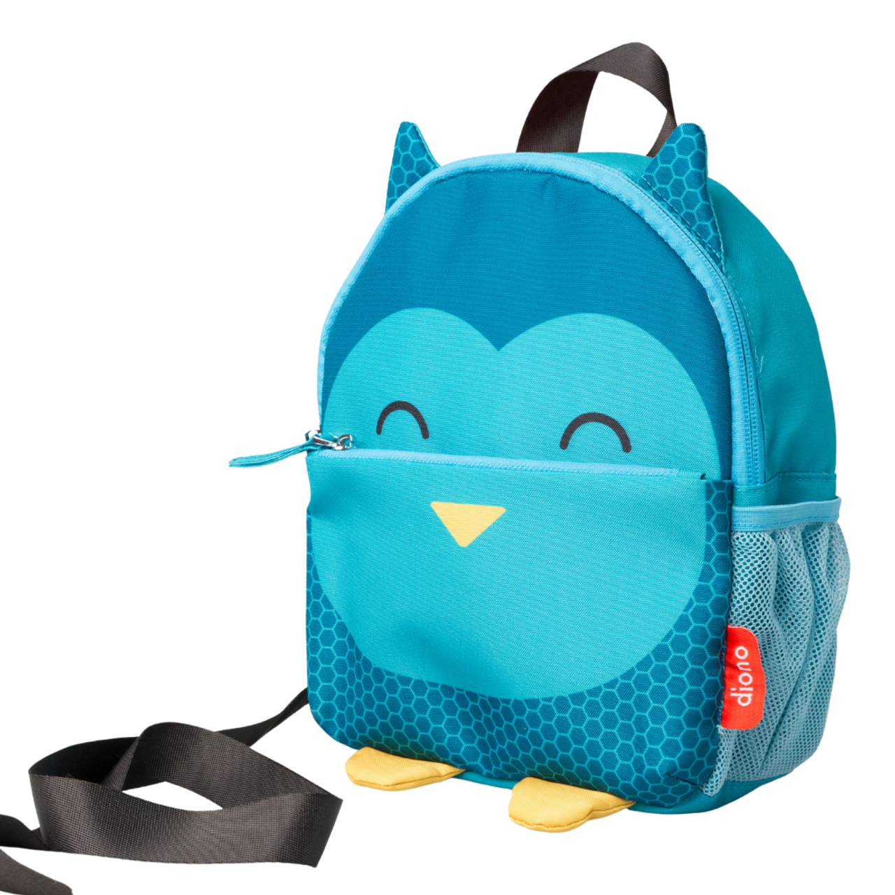 Padded Shoulder Straps for Child Comfort Toddler Reins Harness for Child Safety Diono Bear Character Kids Mini Backpack Full Zip Backpack with Pocket and Handle