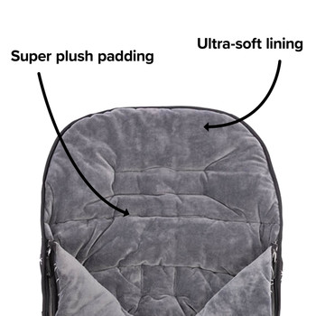 Features soft plush padding and lining for baby comfort [Black Platinum]