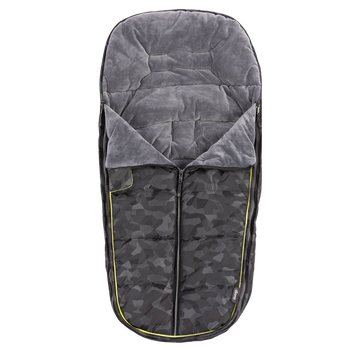 Luxury All Weather Stroller Footmuff, Universal Fit from Baby to Toddler With Cozy Super Soft Padding, Weatherproof, Water Resistant Lining [Black Camo]