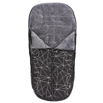 Luxury All Weather Stroller Footmuff, Universal Fit from Baby to Toddler With Cozy Super Soft Padding, Weatherproof, Water Resistant Lining, [Black Platinum]