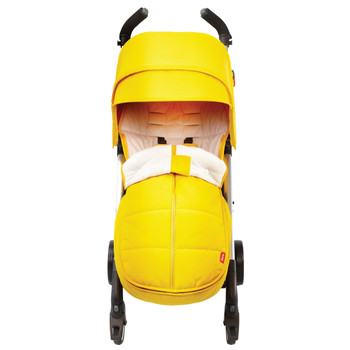 All Weather Stroller Footmuff, Universal Fit from Baby to Toddler With Cozy Super Soft Padding, Weatherproof, Water Resistant Lining shown on Stroller [Yellow Sulphur]