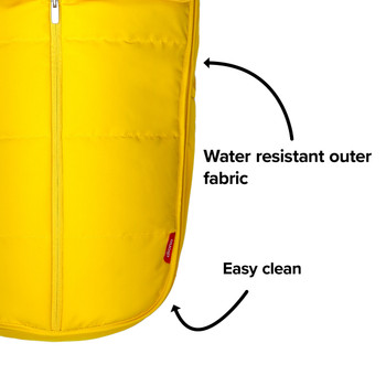 Made with water resistant outer fabrics thats easy to clean [Yellow Sulphur]