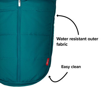 Made with water resistant outer fabrics thats easy to clean [Blue Turquoise]