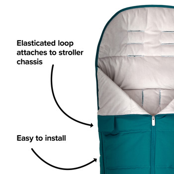 Easy to install with elasticated hoops to attach to your stroller  [Blue Turquoise]