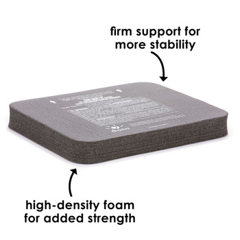 Angle Adjuster - Made from High Density Foam for stable support [Black]