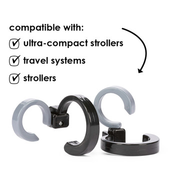 Universal design, compatible with full size travel systems to ultra compact strollers