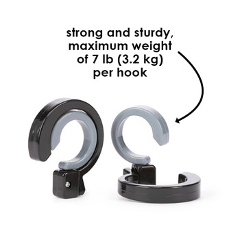 Strong and sturdy design each hook offers a maximum weight of 3.2kg / 7 lb.