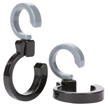 Diono Buggy Hooks for Stroller - 2 Pack of Stroller Hooks, Durable and Convenient 360 Swivel Stroller Clips, Hang Diaper Bag to Stroller